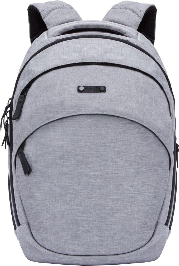 Рюкзак городской Grizzly, цвет: серый, черный. RU-811-1/1RU-811-1/1Молодежный рюкзак Grizzly имеет два отделения, карман на молнии на передней стенке, объемные боковые карманы на молнии, внутренний карман, 2 внутренних кармана на молнии, карман быстрого доступа на задней стенке на магнитной кнопке. Выполнен из полиэстера. Особенности: анатомическая спинка, дополнительная укрепленная ручка, укрепленные лямки, брелок для ключей.