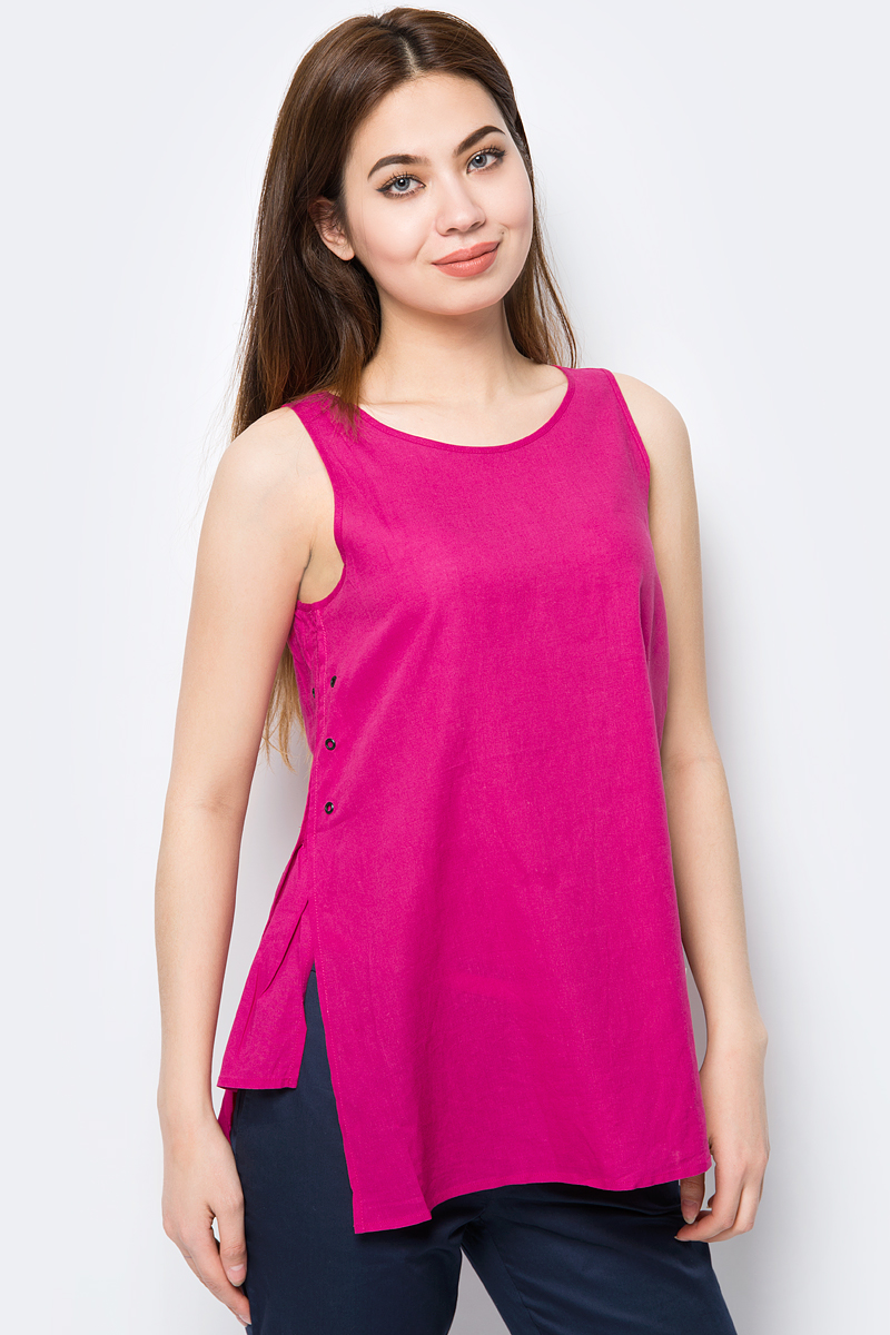 Топ женский Baon, цвет: розовый. B268004_Bright Carmine. Размер L (48)