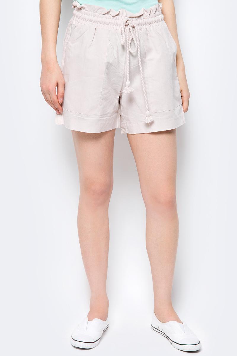 Шорты женские Baon, цвет: бежевый. B328008_Light Tarpan. Размер L (48) шорты женские baon цвет белый b327006 white размер l 48