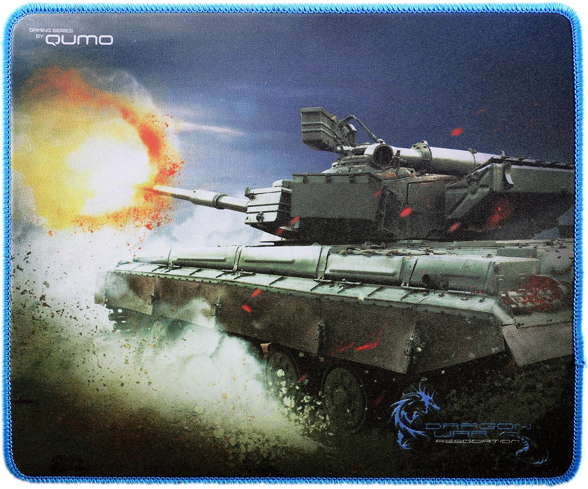 Qumo Tank коврик для мыши20974Игровой коврик для мыши с дизайнерским рисунком. Гладкая, приятная на ощупь поверхность с высокой износостойкостью, устойчивостью к попаданию влаги, позволяет чистить от загрязнений. Обеспечивает высокую скорость и отличную точность позиционирования, исключает прерывистость движения и дрожание курсора мыши. Аккуратная заделка края дает контроль границ перемещения руки и позволяет точно контролировать границы перемещения. Нескользящая основа коврика надежно фиксирует его на любой поверхности.
