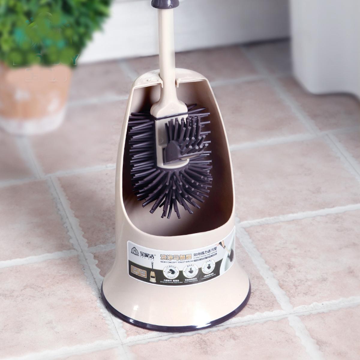 """Комплект для очищения унитаза Boomjoy """"Toilet Brush"""" состоит из ершика и подставки. Ершик с резиновым ворсом и крючком.  Комплект для туалета - это необходимая вещь в каждом доме.   Высота ершика: 40 см."""