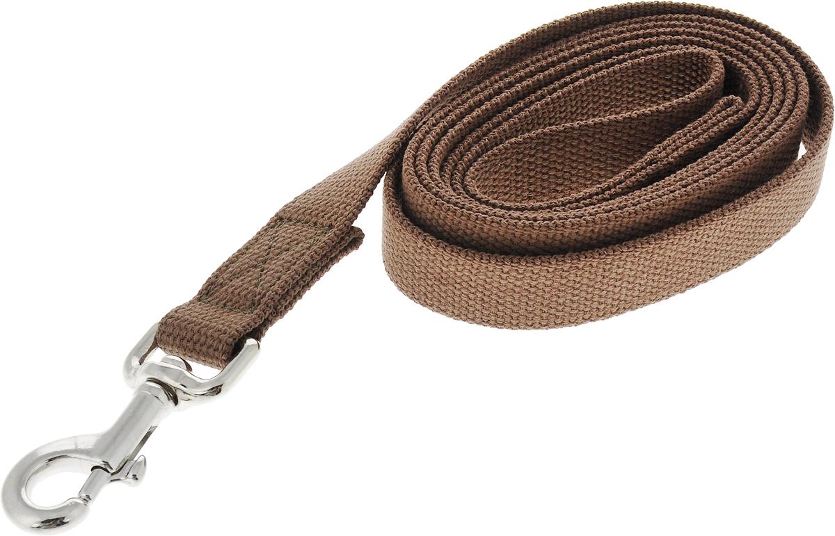 Поводок брезентовый V.I.Pet для собак до 200 кг, цвет: коричневый, 2 м брезентовый полог в воткинске на авито