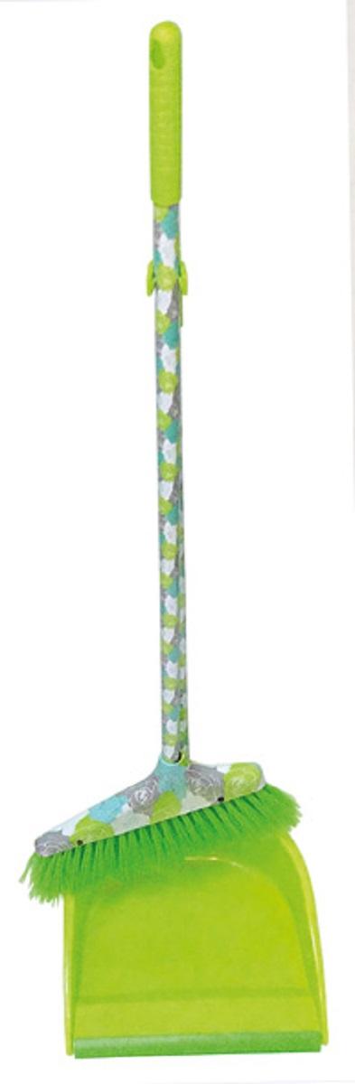 Набор для уборки МФК-профит Розы: щетка, совок, цвет: зеленый, 2 предмета набор для уборки мфк профит розы щетка совок цвет зеленый 2 предмета
