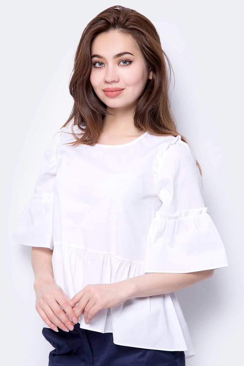 Блузка женская Baon, цвет: белый. B198013_White. Размер XL (50) удлинитель iek wyp10 06 05 03 n 3 м 5 розеток