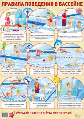 Правила поведения в бассейне. Демонстрационный плакат плакат a3 29 7x42 printio плакат