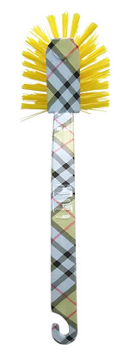 Щетка для посуды МФК-профит Клетка, цвет: желтый, 17,5 x 7 x 5 см стеклоочиститель для окон мфк профит цвет малиновый 22 x 19 5 x 2 см