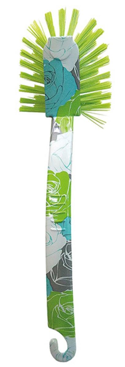 Щетка для посуды МФК-профит Розы, цвет: зеленый, 17,5 x 7 x 5 см щетка для посуды мфк профит восточные узоры цвет сиреневый 17 5 x 7 x 5 см