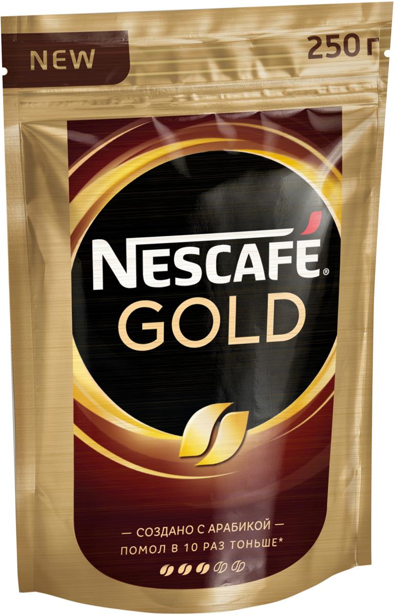 Nescafe Gold Кофе растворимый сублимированный с добавлением натурального жареного молотого кофе, 250 г nescafe кофе nescafe gold растворимый 150г