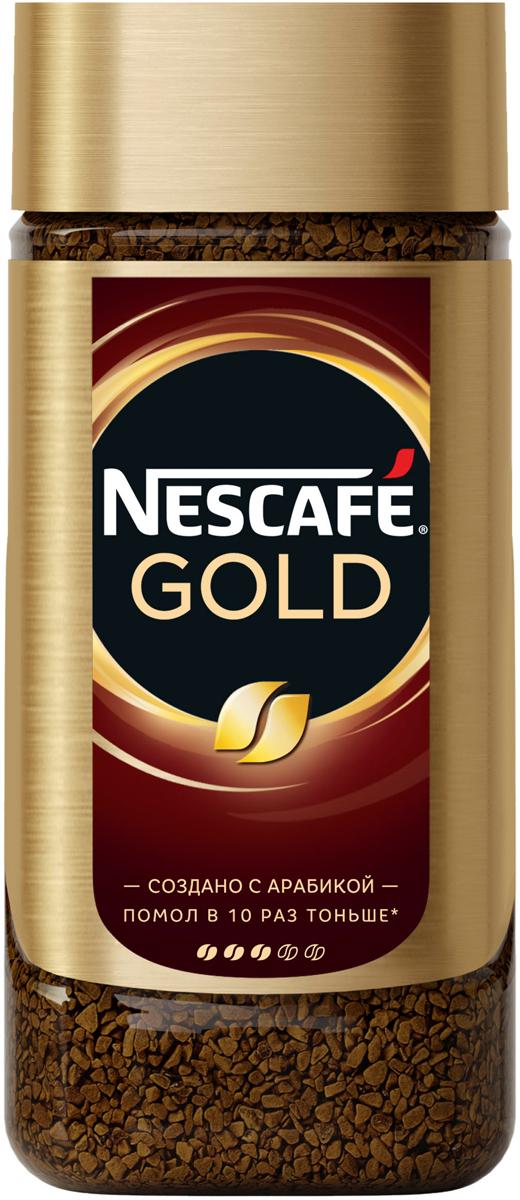 Nescafe Gold Кофе растворимый сублимированный с добавлением натурального жареного молотого кофе, 190 г nescafe кофе nescafe gold растворимый 150г