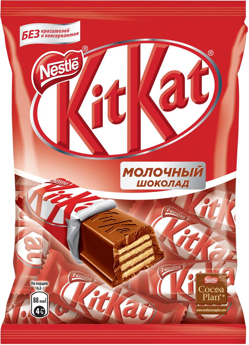 KitKat Mini молочный шоколад с хрустящей вафлей, 202 г kitkat mini темный шоколад с хрустящей вафлей 185 г
