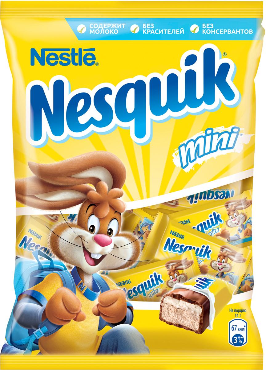 Nesquik Mini конфета, 186 г шоколад nesquik молочный с молочной начинкой 50 г