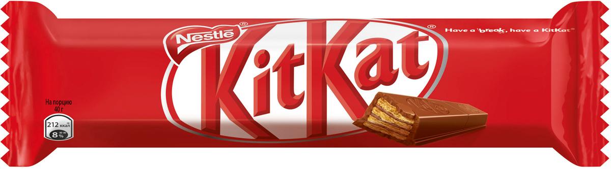KitKat шоколадный батончик, 40 г kitkat mini темный шоколад с хрустящей вафлей 185 г