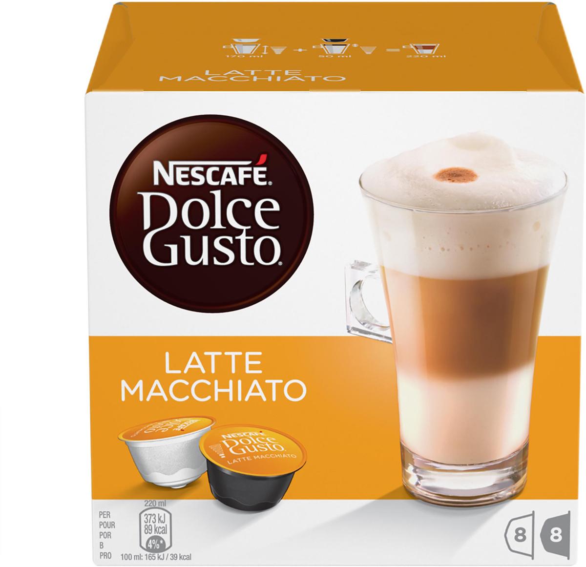 Nescafe Dolce Gusto Latte Macchiato кофе в капсулах, 16 шт nescafe dolce gusto cortado эспрессо с молоком кофе в капсулах 16 шт