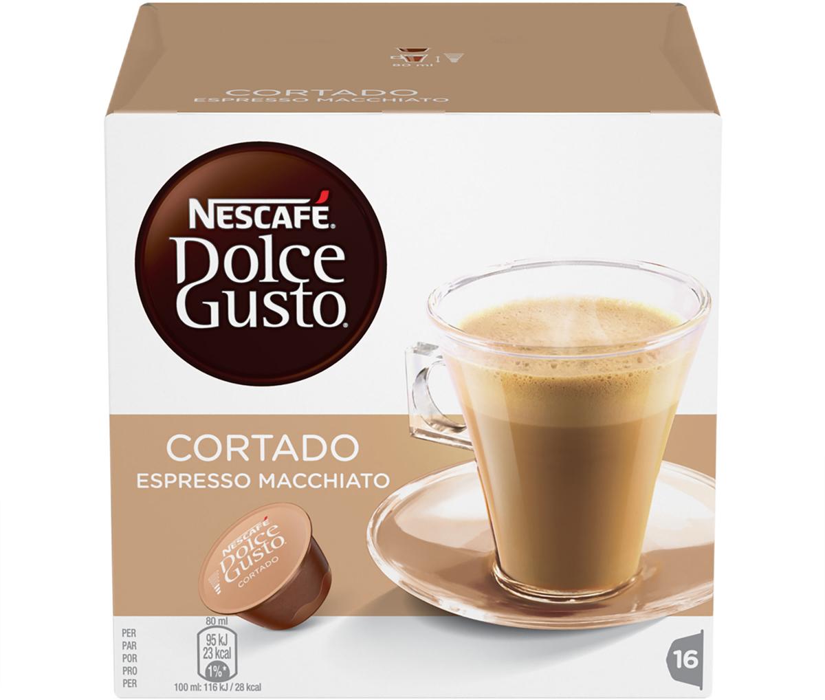 Nescafe Dolce Gusto Cortado (эспрессо с молоком) кофе в капсулах, 16 шт блюз эспрессо форте кофе молотый в капсулах 55 г