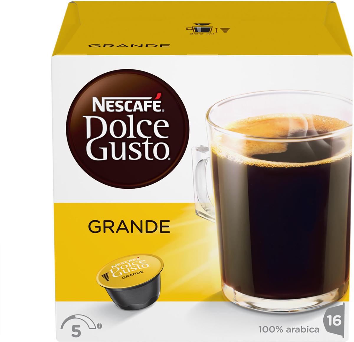 Nescafe Dolce Gusto Grande кофе в капсулах, 16 шт nescafe dolce gusto cortado эспрессо с молоком кофе в капсулах 16 шт