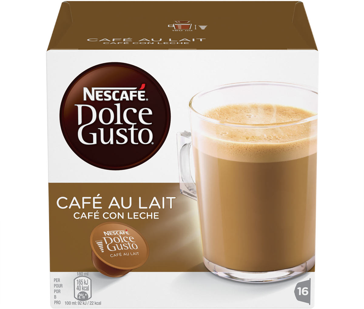 Nescafe Dolce Gusto Кофе О Ле, кофе в капсулах, 16 шт nescafe dolce gusto cortado эспрессо с молоком кофе в капсулах 16 шт