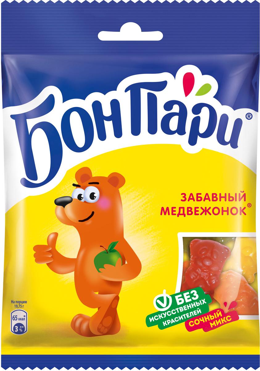 Бон Пари Забавный медвежонок мармелад жевательный фигурный, 75 г бумба балтика жевательный мармелад 108 г