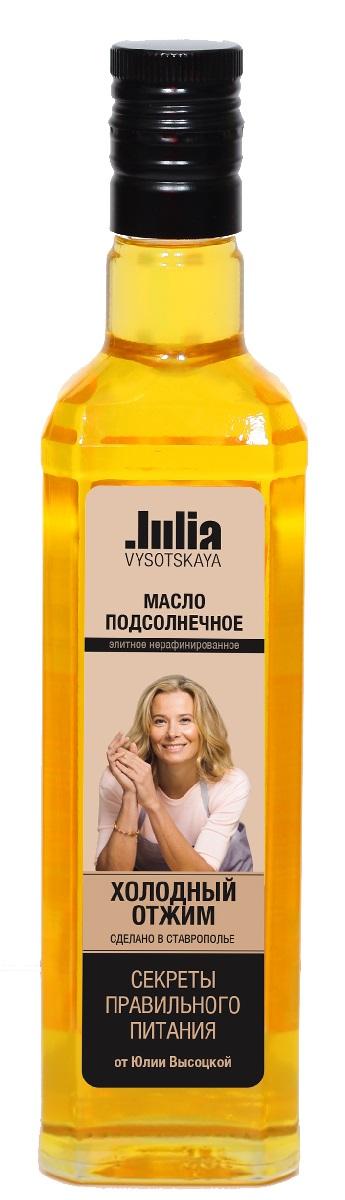 Julia Vysotskaya Масло нерафинированное подсолнечное холодный отжим высший сорт, 500 мл