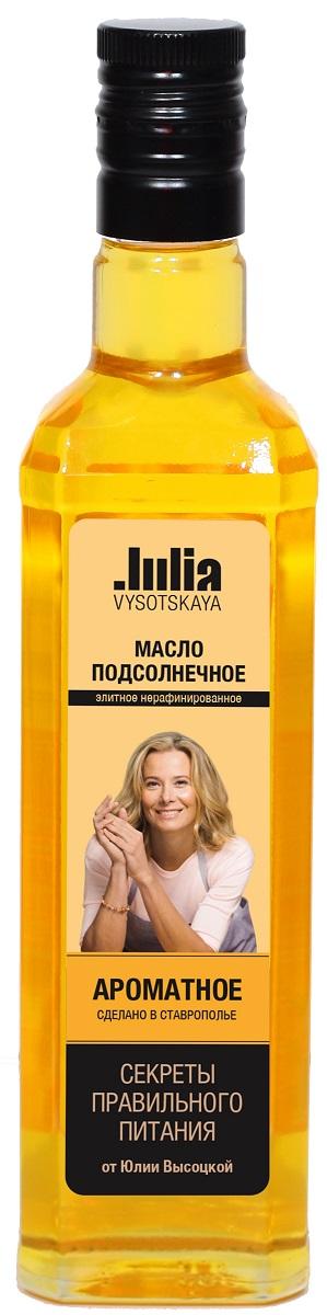Julia Vysotskaya Масло нерафинированное подсолнечное ароматное высший сорт, 500 мл