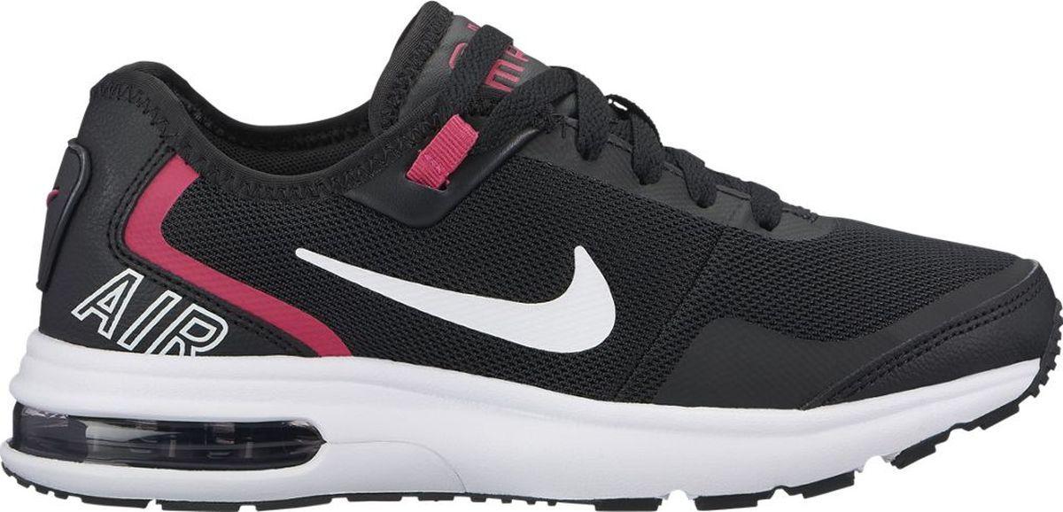 Кроссовки для девочки Nike Air Max LB, цвет: черный. AA3508-001. Размер 5Y (36,5)AA3508-001Кроссовки для девочки Air Max LB от Nike, выполненные из текстиля и искусственной кожи. Внутренняя поверхность и стелька из текстиля комфортны при движении. Шнуровка надежно зафиксирует модель на ноге. Особая полиуретановая промежуточная подошва оснащена системой Air-Sole в пятке для максимальной защиты от ударных нагрузок и амортизации. Износостойкая резиновая подошва с протектором способствует сцеплению с поверхностью.