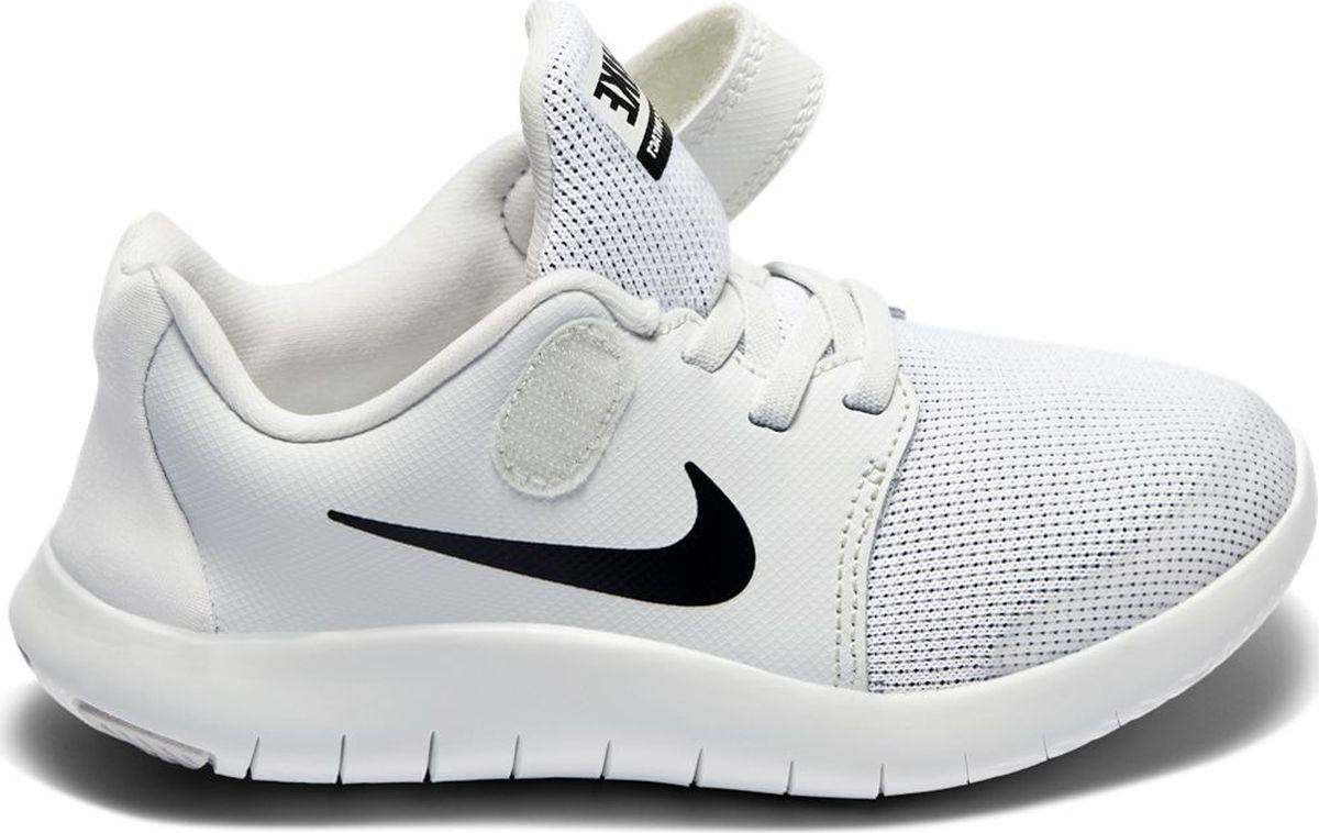 Кроссовки для мальчика Nike Flex Contact 2, цвет: белый. AH3444-100. Размер 3Y (34) кроссовки для мальчика zenden цвет красный 219 33bg 043tt размер 34