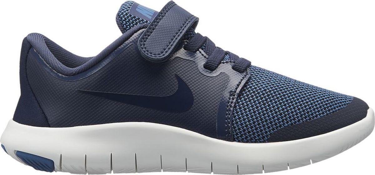 Кроссовки для мальчика Nike Flex Contact 2, цвет: синий. AH3444-400. Размер 1Y (31,5)AH3444-400