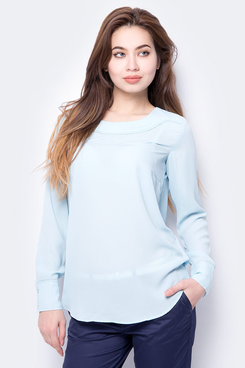 Блузка женская Sela, цвет: голубой. Tw-112/235-8112. Размер 50 цена 2017