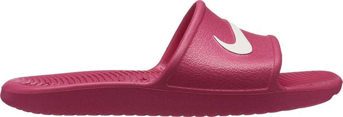 Шлепанцы для девочки Nike Kawa Shower, цвет: розовый. AQ0899-601. Размер 5Y (36,5)AQ0899-601Практичные шлепанцы от Nike не оставят равнодушным вашего ребенка! Модель изготовлена из износостойкого материала. Подъем изделия оформлен логотипом бренда. Рифление на подошве обеспечивает отличное сцепление с любой поверхностью. Шлепанцы прекрасно подойдут для повседневного использования в бассейне, дома или на отдыхе.