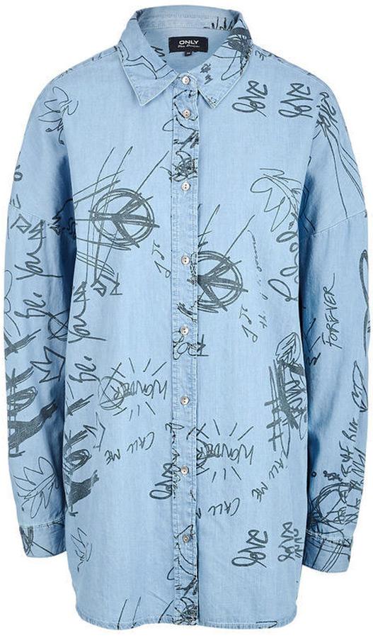 Рубашка женская Only, цвет: синий. 15148622_Light Blue Denim. Размер 38 (44)15148622_Light Blue DenimДжинсовая рубашка от Only выполнена из натурального хлопка. Модель с длинными рукавами и отложным воротником застегивается на пуговицы. Рукава с манжетами на пуговицах.