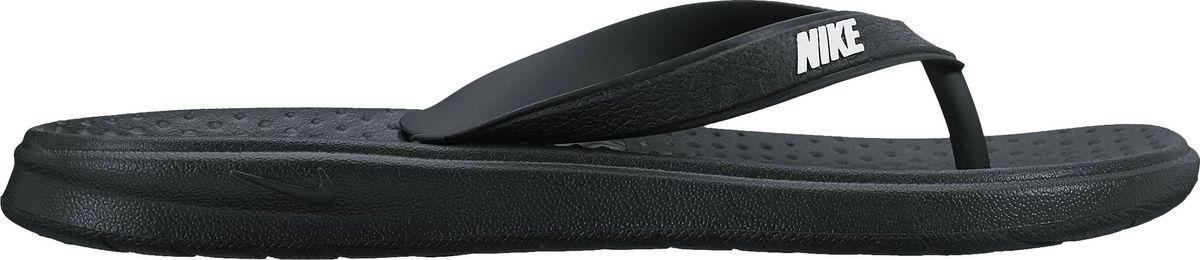 Пантолеты для мальчика Nike Solay Thong, цвет: черный. 882827-001. Размер 2Y (32,5)