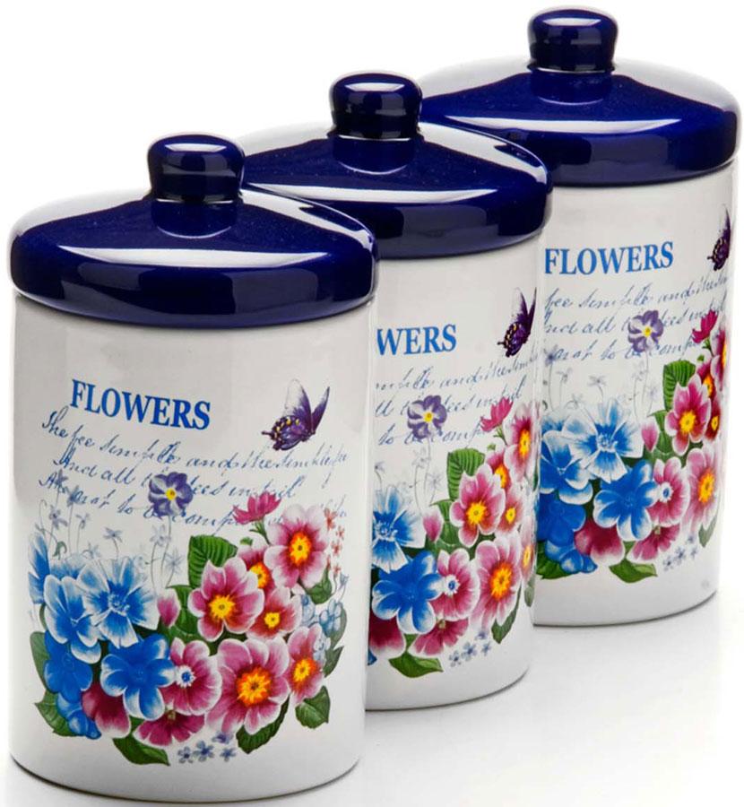 Набор банок для сыпучих продуктов Loraine, 400 мл, 6 предметов. 26157 набор банок для сыпучих продуктов loraine бабочки 6 предметов 25633