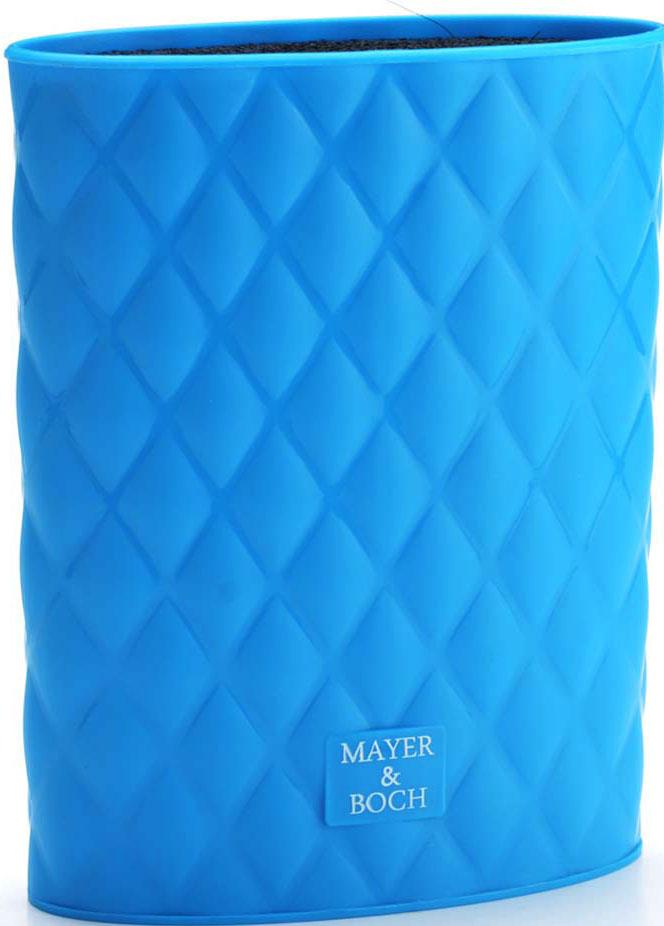Подставка для ножей Mayer & Boch, цвет: синий, 22 см. 26989-1 подставка для ножей mayer