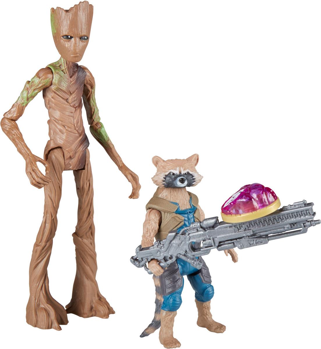 Avengers Набор фигурок Енот Ракета и Грут с камнем бесконечности avengers набор фигурок iron man