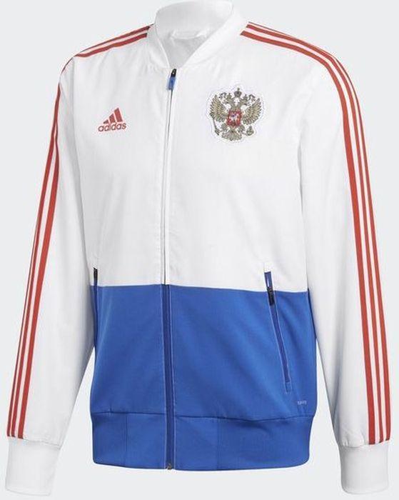 Ветровка мужская Adidas RFU PRE JKT, цвет: белый, синий. CE8779. Размер XXL (60/62)