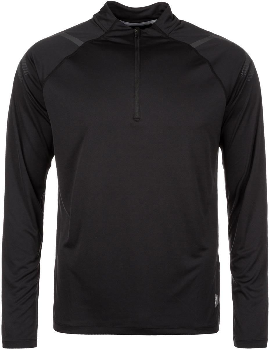 Лонгслив мужской Asics Icon Ls 1/2 Zip, цвет: черный. 154588-0904. Размер XXL (52)