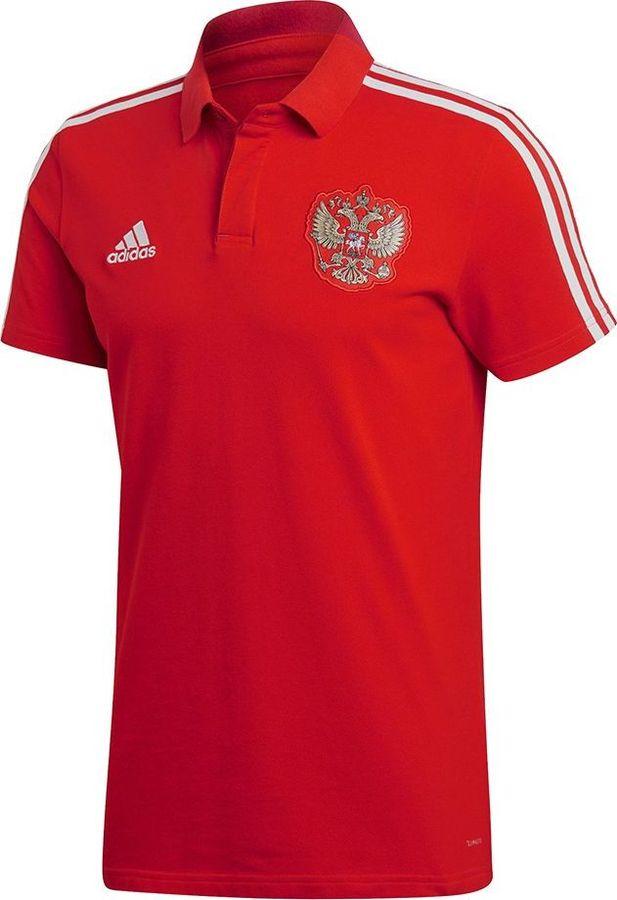 Купить Поло мужское Adidas RFU CO Polo, цвет: красный. CE8784. Размер M (48/50)