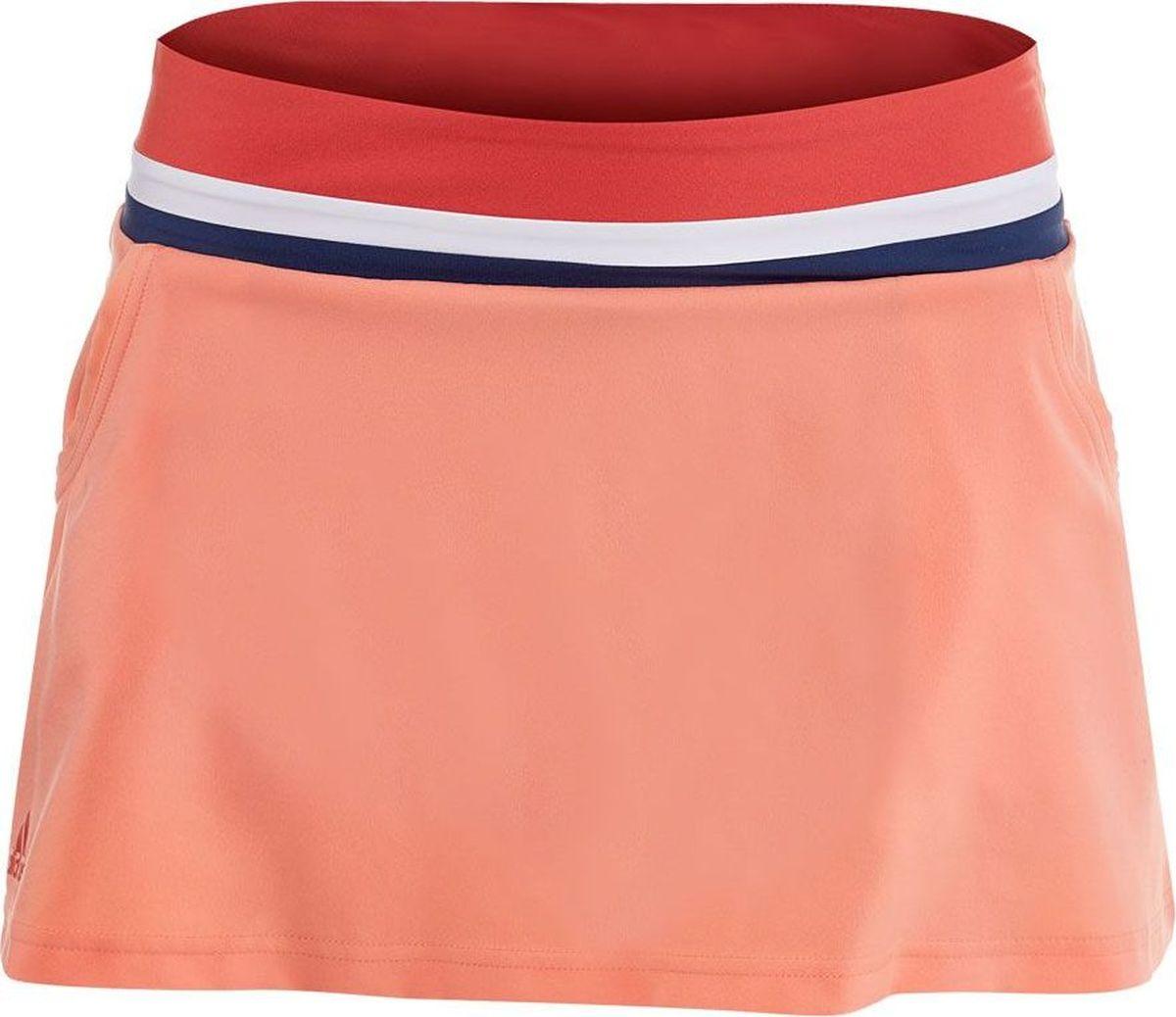 Юбка adidas Club Tank, цвет: коралловый. CE1487. Размер M (46/48) юбка шорты теннисная adidas аdizero ak0351 белая