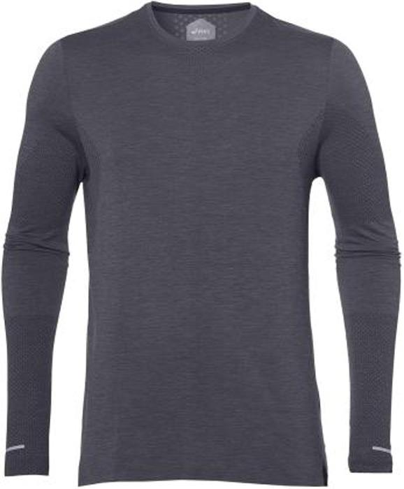 Лонгслив мужской Asics Seamless Ls, цвет: темно-серый. 154587-0773. Размер XL (50) лонгслив мужской asics ls top цвет черный 134088 0904 размер xl 50
