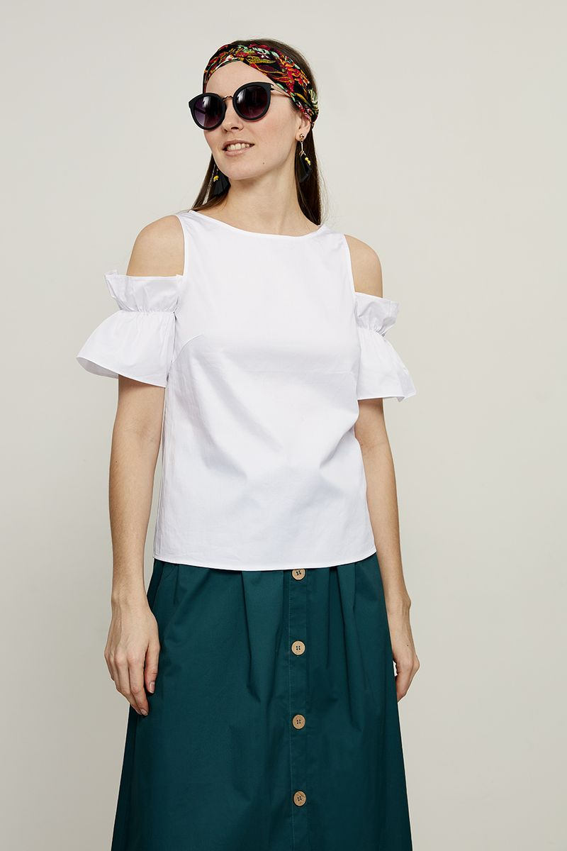 Блузка женская Zarina, цвет: белый. 8225087317001. Размер 50 блузка женская zarina цвет белый 8224086316001 размер 42