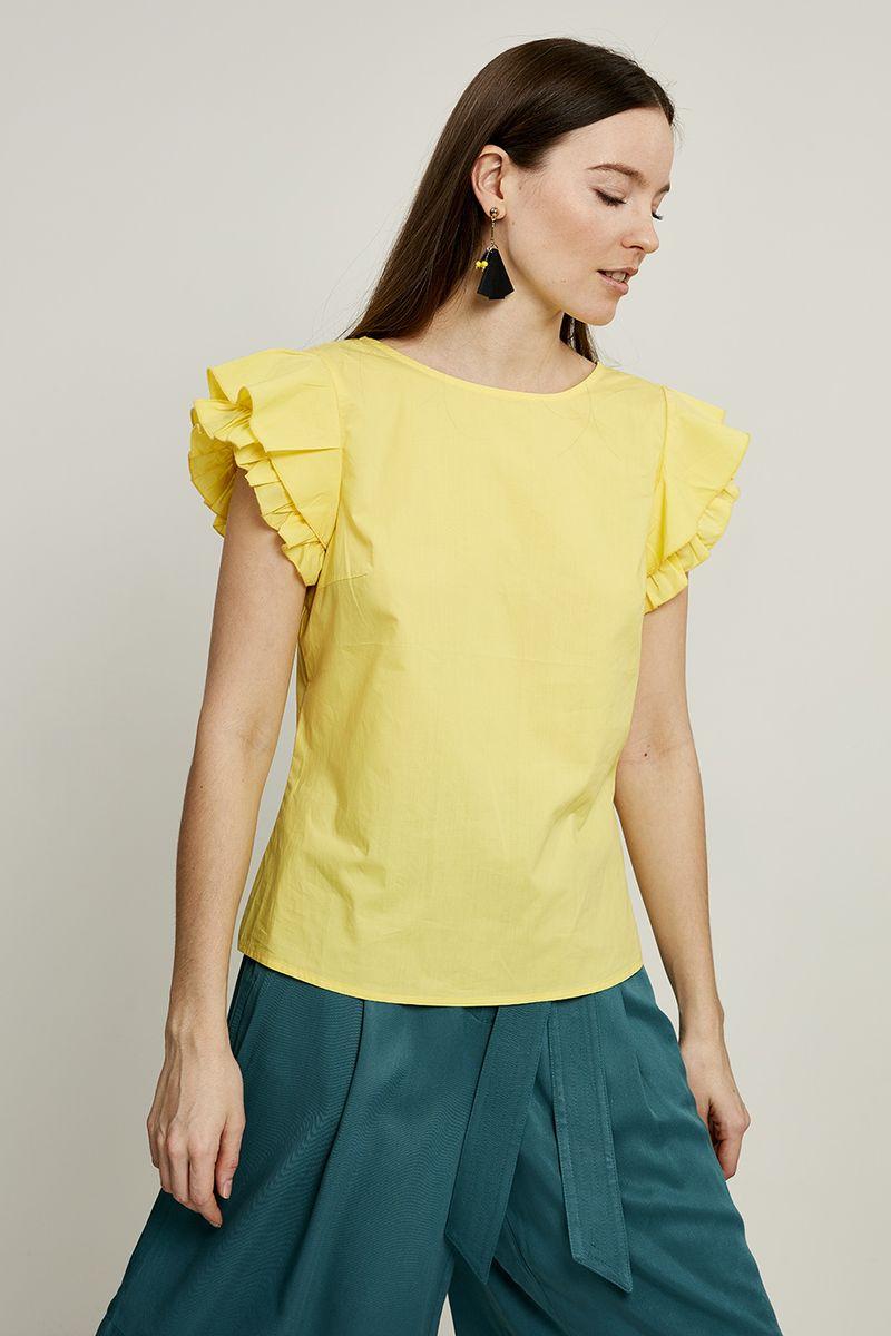 Блузка женская Zarina, цвет: желтый. 8225072302009. Размер 42 блузка quelle zarina 1017146