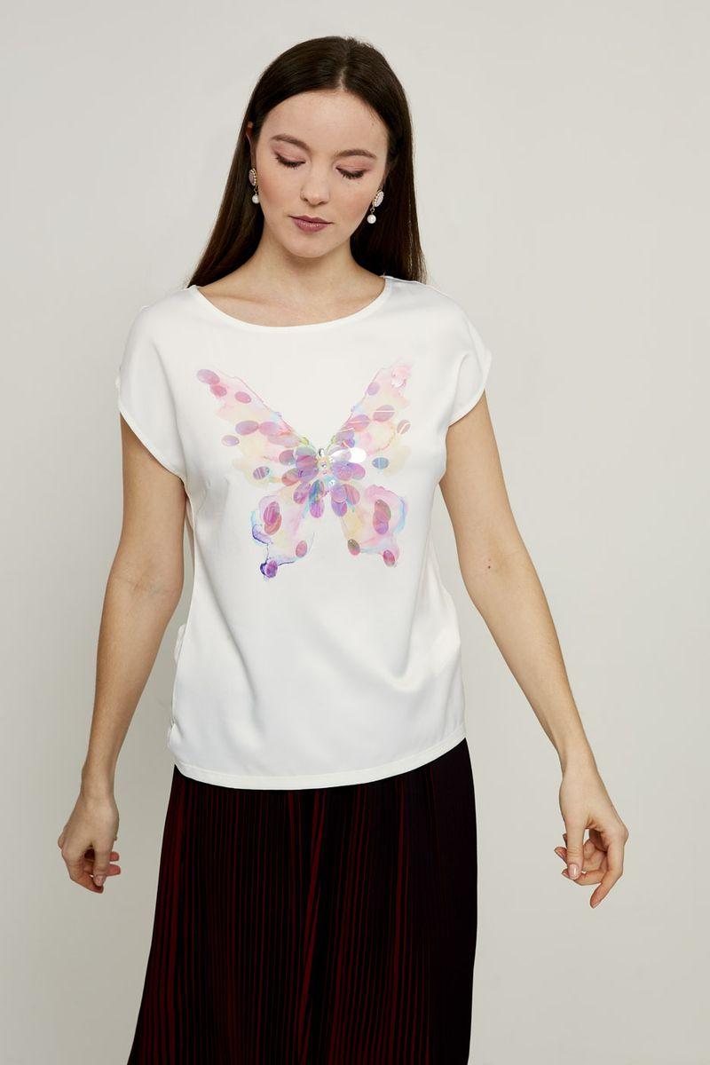Блузка женская Zarina, цвет: разноцветный. 8224543439086. Размер S (44) брюки zarina zarina za004ewxrm01