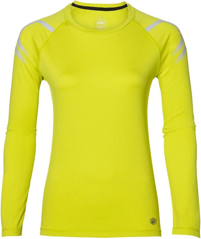 Лонгслив женский Asics Icon Ls Top, цвет: желтый. 154544-4034. Размер  (48)