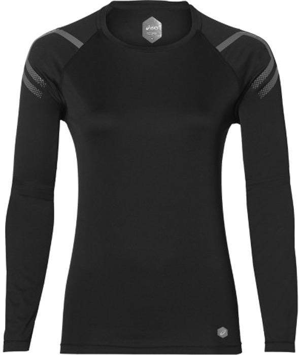 Лонгслив женский Asics Icon Ls Top, цвет: черный. 154544-0904. Размер  (48)