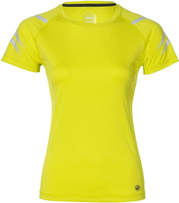 Футболка женская Asics Icon Ss Top, цвет: желтый. 154540-4034. Размер S (44)