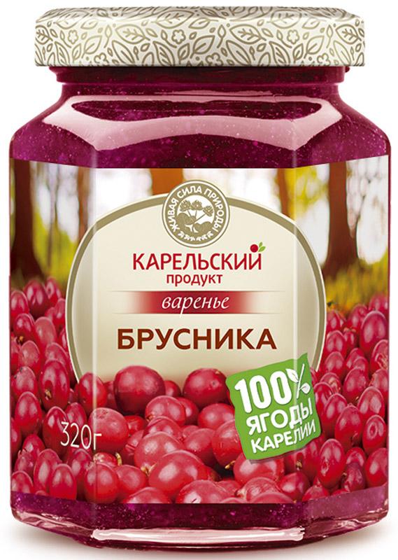 Карельский продукт Варенье из брусники, 320 г био варенье абрикосовое auchan 350г
