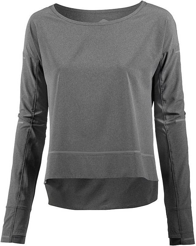 Лонгслив женский Asics Lite-Show Cover Up, цвет: темно-серый. 154529-0773. Размер S (44) костюм спортивный женский asics sweater suit цвет серый 142917 0798 размер s 42 44