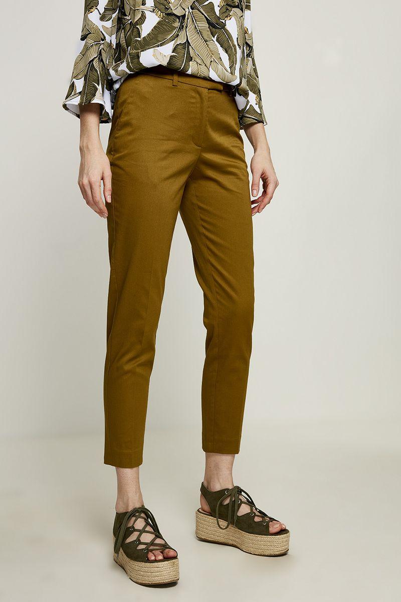 Брюки женские Zarina, цвет: коричневый. 8224215707022. Размер 42 брюки zarina zarina za004ewxrm01