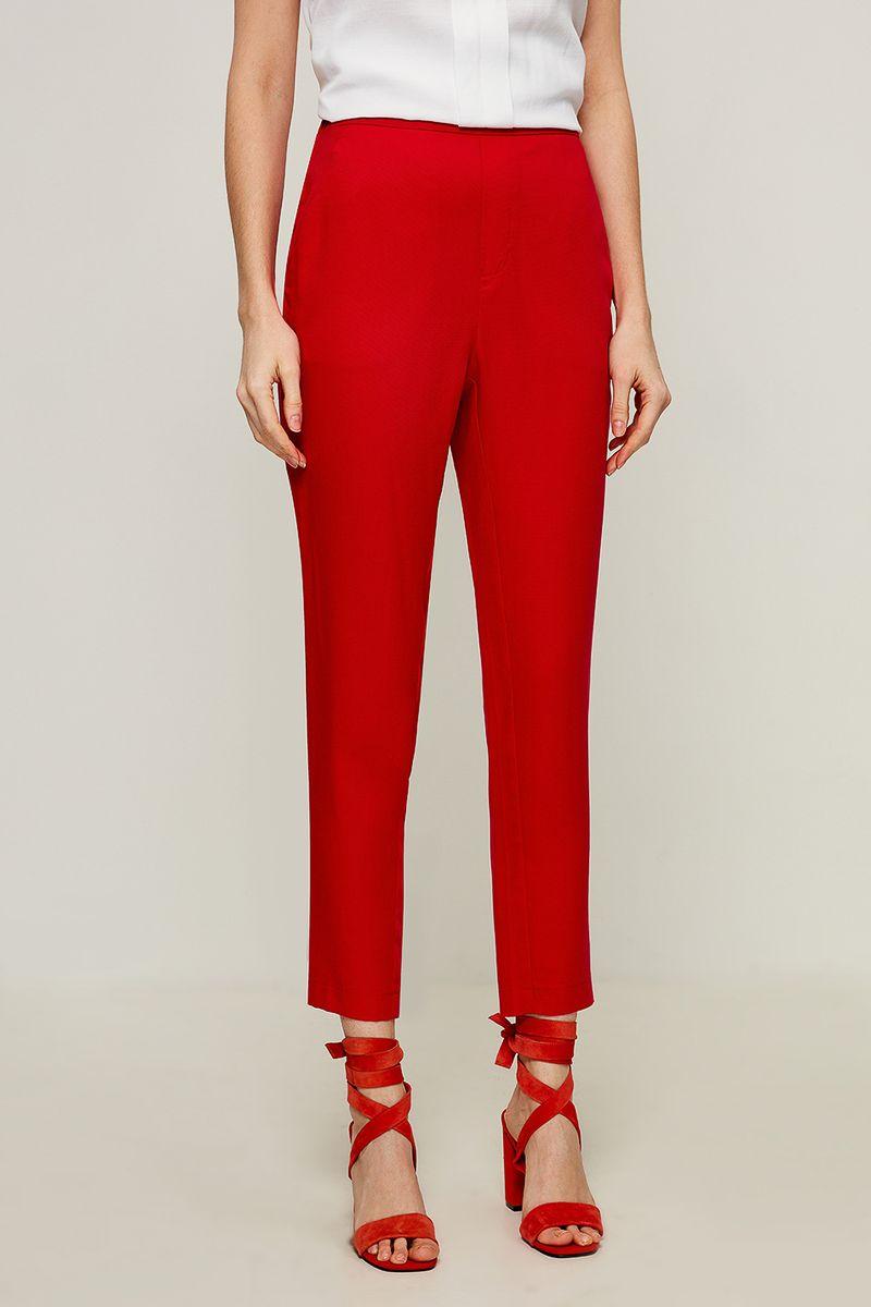 Брюки женские Zarina, цвет: красный. 8225203703070. Размер 48 брюки женские zarina цвет черный 8122210706050 размер 44