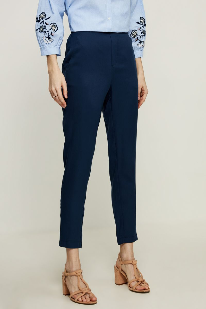 Брюки женские Zarina, цвет: синий. 8225203703040. Размер 44 брюки женские zarina цвет черный 8122210706050 размер 44