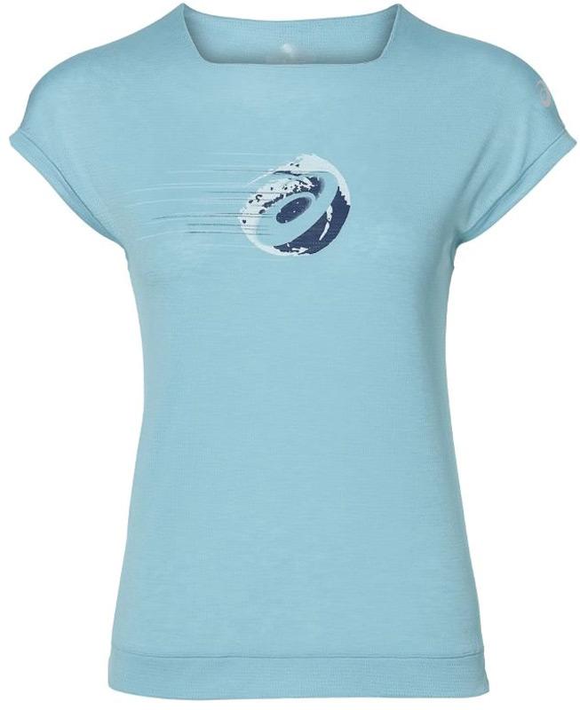 Футболка женская Asics Gpx Ss Top, цвет: голубой. 154428-8099. Размер XS (42) футболка asics футболка ss layering top